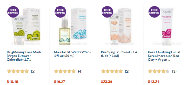 Welcome Acure Organics to beauty bulletins, FREE SHIPPING