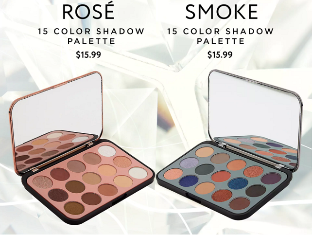 Glam Reflection 15 Color Shadow Palette: Rosé and Glam Reflection 15 Color Shadow Palette: Smoke