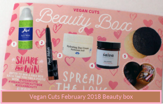 Vegan Cuts  February 2018 Beauty Box Full Spoiler