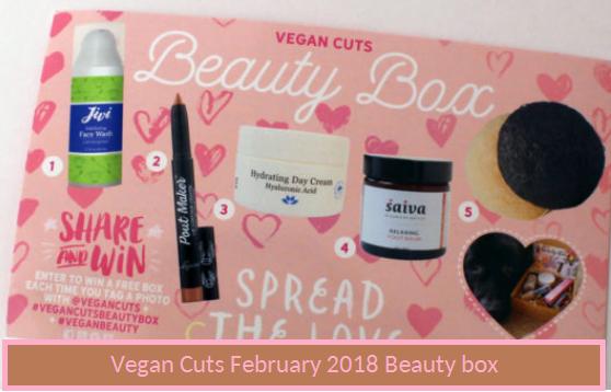 Vegan Cuts  February 2018 Beauty Box Full Spoiler