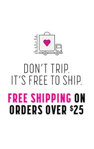 Free-Shipping with $25 order