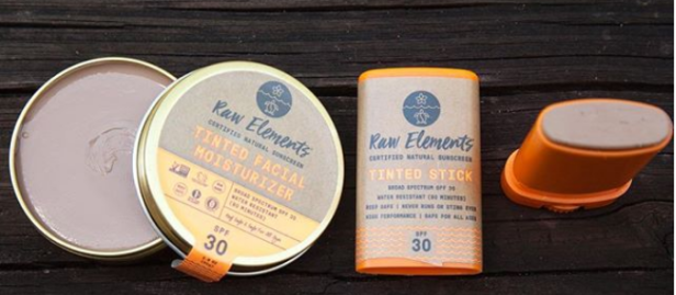 Raw Elements USA tinted spf