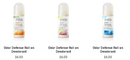 zatik deodorant