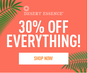30% sitewide plus free shipping at Desert Essence