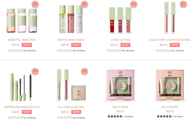 pixi exclusives with free shipping