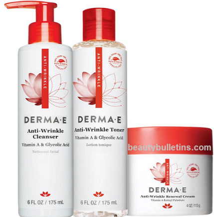 derma e anti wrinkle set 40% off with free shipping