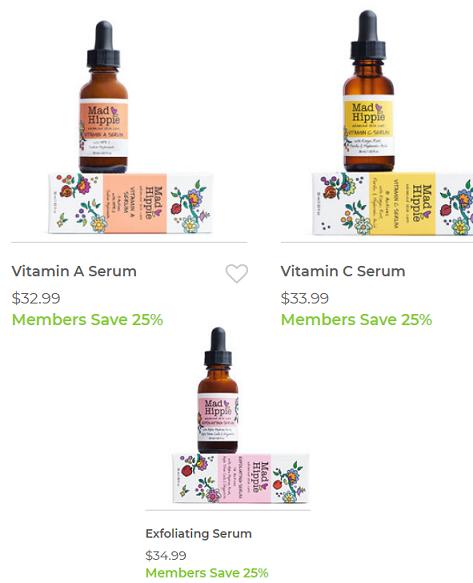 mn-mad hippie serums 25% off