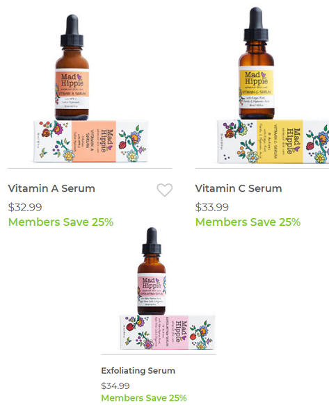 mn-mad hippie serums 25% off