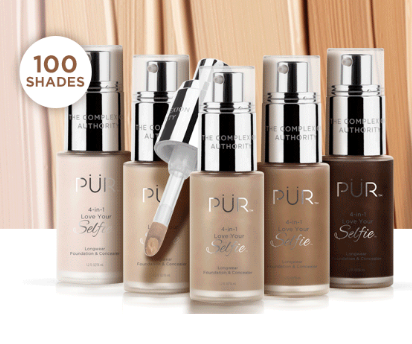 pur  love your selfie foundation in 100 shades
