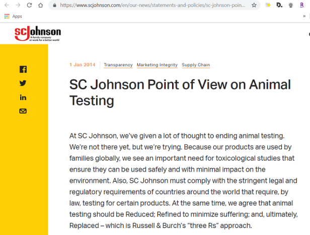 sc-johnson animal testing